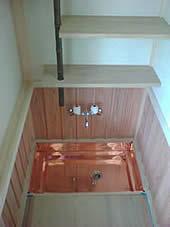 茶室 銅板誂え水谷